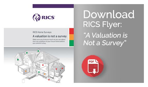 Download RICS flyer: A Valuation is Not a Survey